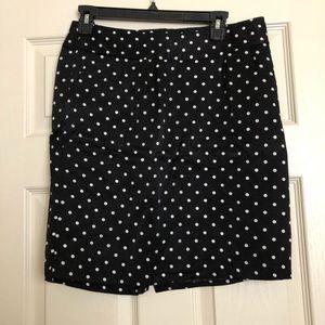 Merona-polka dot skirt- size 8